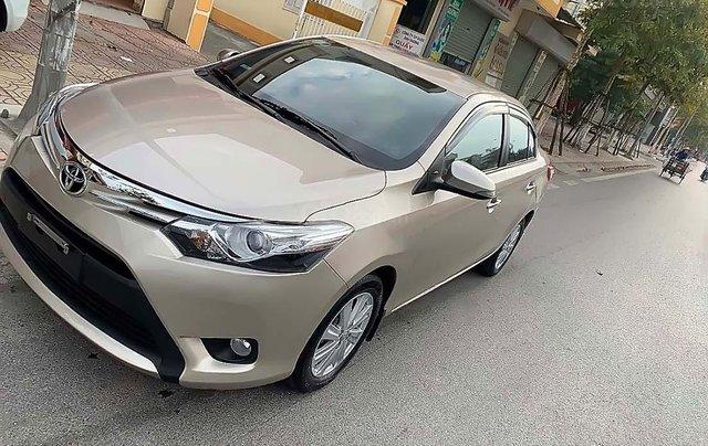 Cần bán gấp xe cũ Toyota Vios G sản xuất 2014, màu vàng2