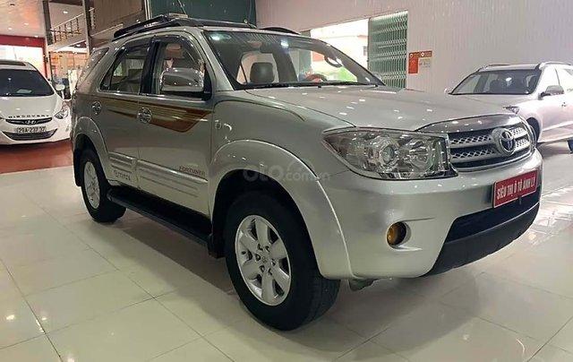 Cần bán gấp Toyota Fortuner 2.5G năm sản xuất 2009, màu bạc  0