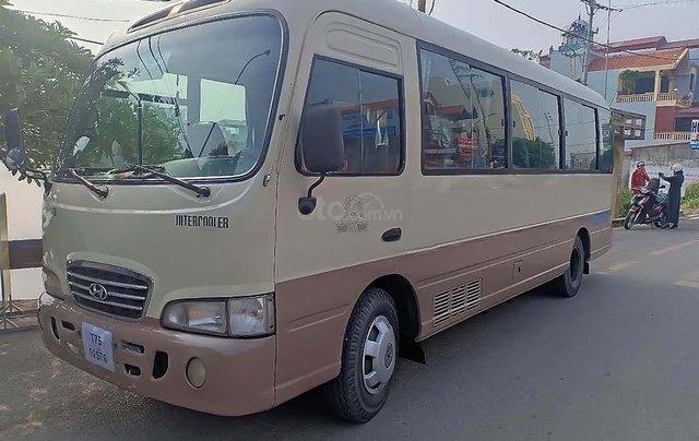 Cần bán Hyundai County 3.9L năm sản xuất 2005, màu kem (be)0