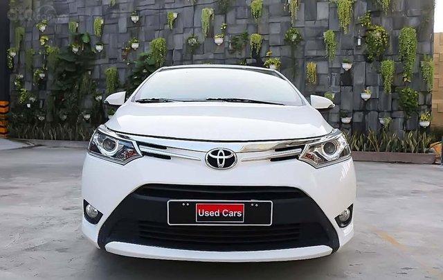 Bán Toyota Vios G AT sản xuất năm 2018, màu trắng số tự động, giá chỉ 560 triệu0