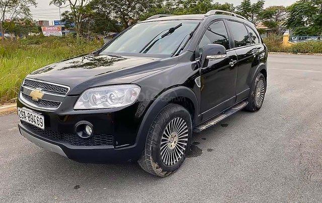 Cần bán lại xe Chevrolet Captiva sản xuất 2008, màu đen0
