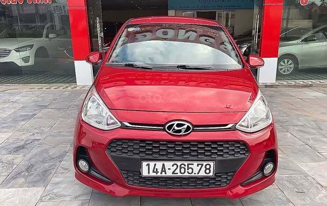Bán xe Hyundai Grand i10 1.2 AT đời 2017, màu đỏ, số tự động0