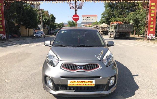 Bán xe Kia Morning 1.0AT Sport sản xuất 2012, màu xám, xe nhập, form mới, full kịch đồ0