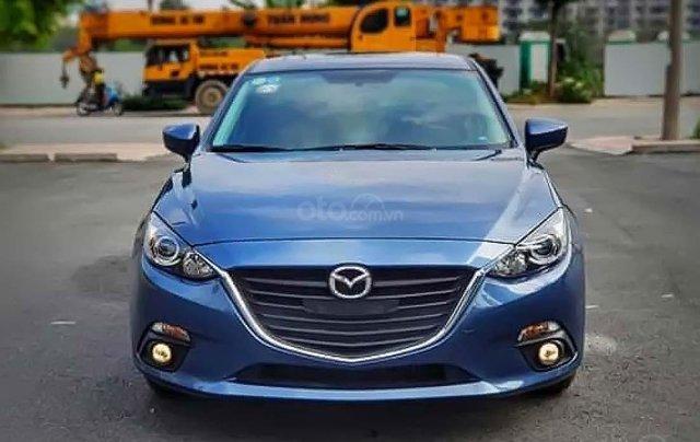 Bán xe Mazda 3 sản xuất 2016, màu xanh lam0