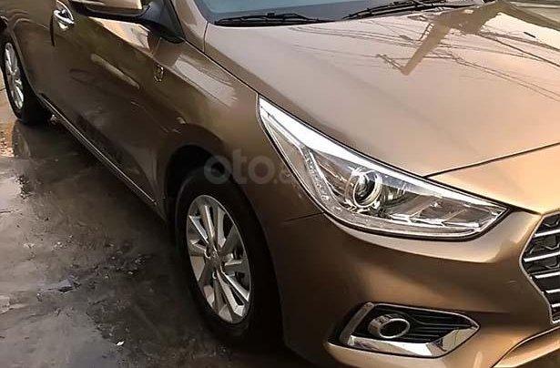 Bán Hyundai Accent 1.4MT đời 2019, màu nâu0