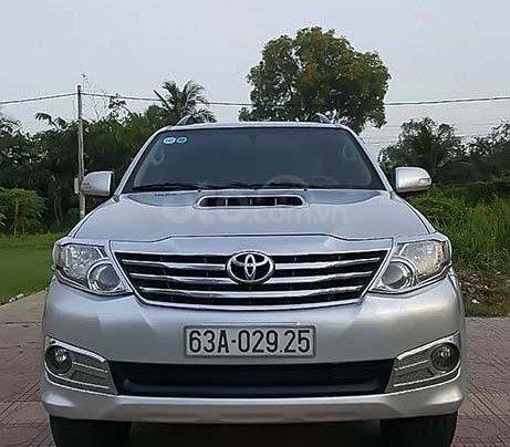 Cần bán lại xe Toyota Fortuner 2.5G năm sản xuất 2014, màu bạc 0