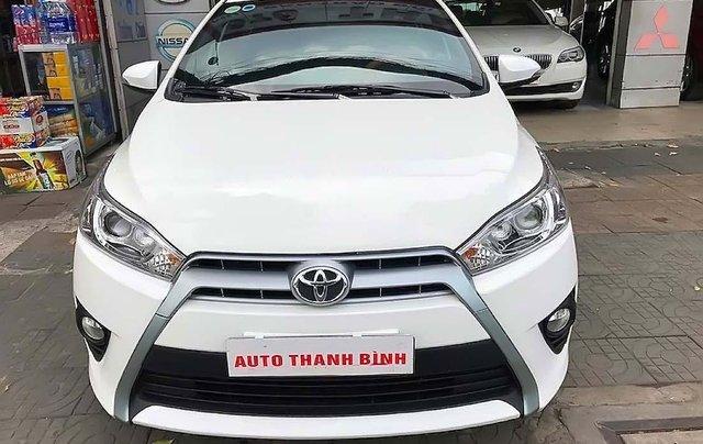 Bán Toyota Yaris 1.3G 2016, màu trắng, nhập khẩu xe gia đình giá cạnh tranh0