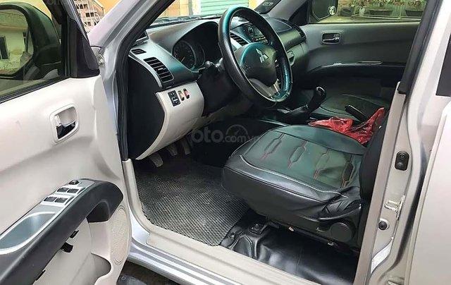 Cần bán Mitsubishi Triton GLS 4x4 MT 2009, màu bạc, nhập khẩu Thái  4