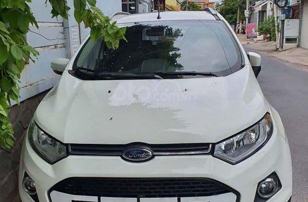 Bán Ford EcoSport 1.5AT Titanium sản xuất 2017, màu trắng như mới, giá 499tr0