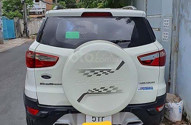 Bán Ford EcoSport 1.5AT Titanium sản xuất 2017, màu trắng như mới, giá 499tr1