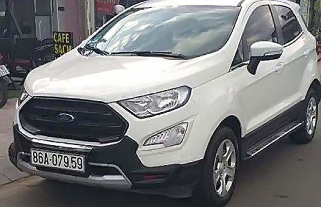 Cần bán lại xe Ford EcoSport năm sản xuất 2018, màu trắng xe gia đình giá cạnh tranh0
