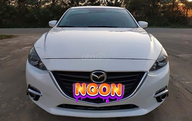 Bán Mazda 3 1.5 AT đời 2016, màu trắng, số tự động  0