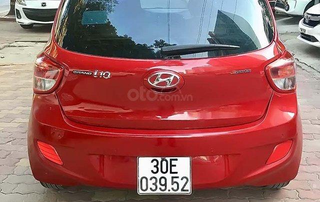 Bán xe Hyundai Grand i10 2015, màu đỏ, nhập khẩu3
