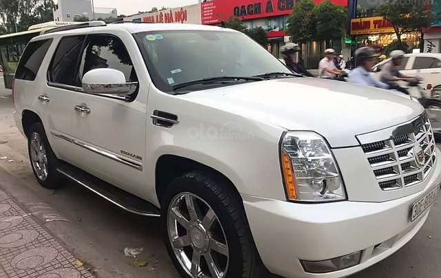 Bán Cadillac Escalade 6.2 V8 sản xuất năm 2007, màu trắng, xe nhập 0