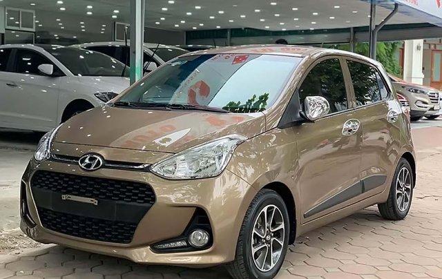 Cần bán Hyundai Grand i10 1.2 AT sản xuất 2018, màu nâu, số tự động 0
