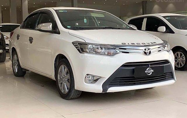 Cần bán Toyota Vios năm sản xuất 2017, màu trắng, giá 410tr xe còn mới lắm0