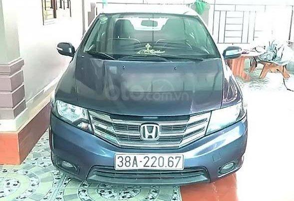 Cần bán Honda City 1.5 AT đời 2013, màu xanh lam số tự động0