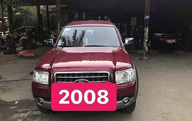 Bán xe Ford Everest MT đời 2008, màu đỏ, máy dầu0
