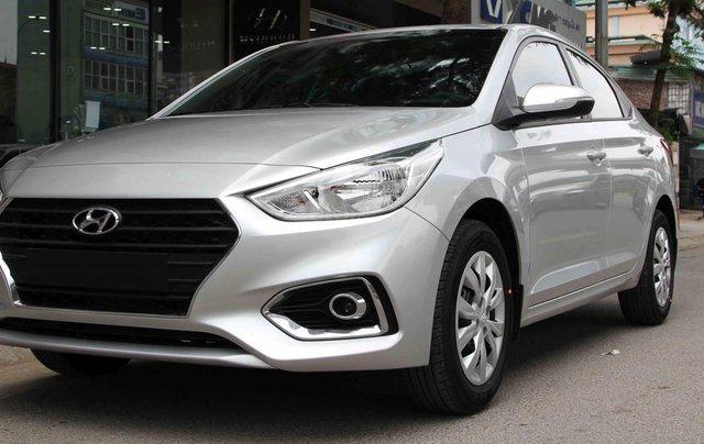 Bán xe Hyundai Accent 1.4L AT 2019, màu bạc, giá chỉ 504 triệu