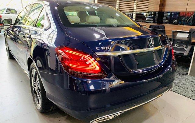 Giá xe Mercedes-Benz C180 2020, thông số kỹ thuật, giá lăn bánh, khuyến mãi tháng 11/2020, màu xanh5