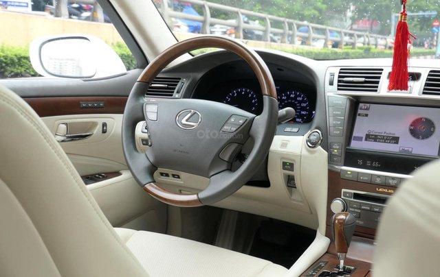 Đức Trí Auto - bán Lexus LS460L trắng kem đẳng cấp siêu mới chất nuột nà8