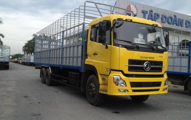 Bán xe Dongfeng 3 chân đời 2020, màu vàng, thùng bạt2
