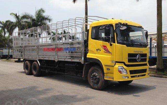 Bán xe Dongfeng 3 chân đời 2020, màu vàng, thùng bạt0