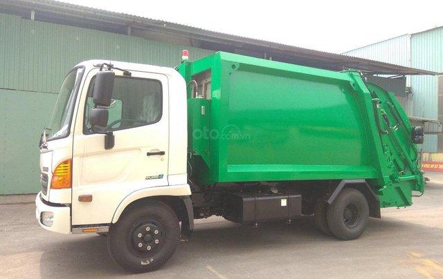 Bán xe cuốn ép rác Hino FC 9 khối1