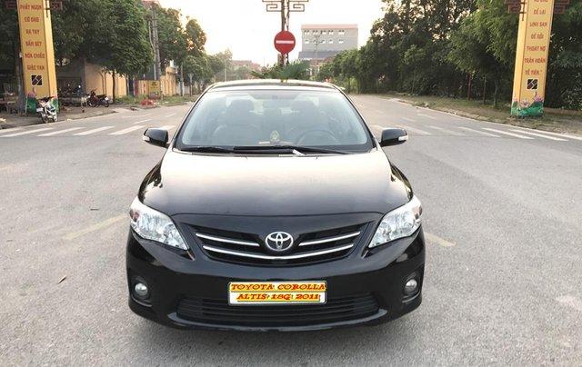 Toyota Corolla Altis 1.8G cuối 2011, số tay, màu đen 1 chủ mua đi từ mới - lốp 2011 nguyên, sơ cua chưa hạ, mới quá đi0