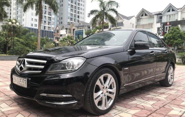 Bán Mercedes C200 đời 2011, màu đen0