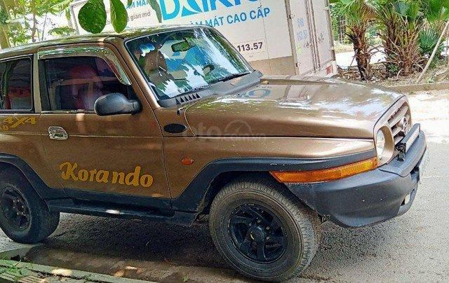 Bán xe Ssangyong Korando TX-5 4x2 MT năm 2003, màu vàng, nhập khẩu 0