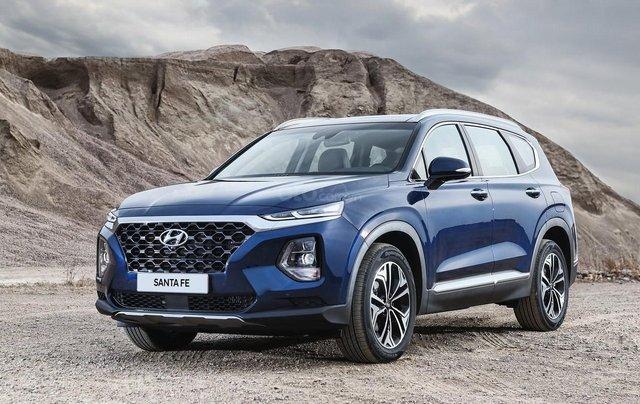 Hyundai Santa Fe 2.2 dầu cao cấp 2020, ưu đãi lớn, giao xe ngay0