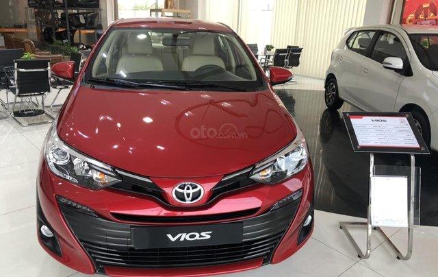 Bán xe Toyota Vios đời 2020 màu đỏ giao ngay - mua trả góp chỉ với 150 triệu0