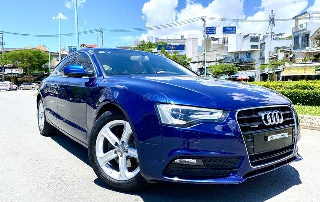 Audi A5 nhập Đức 2015 màu xanh zin, full và độ vào rất nhiều đồ chơi cao cấp, số tự động 6 cấp, nội thất kem0