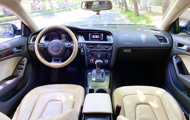 Audi A5 nhập Đức 2015 màu xanh zin, full và độ vào rất nhiều đồ chơi cao cấp, số tự động 6 cấp, nội thất kem8