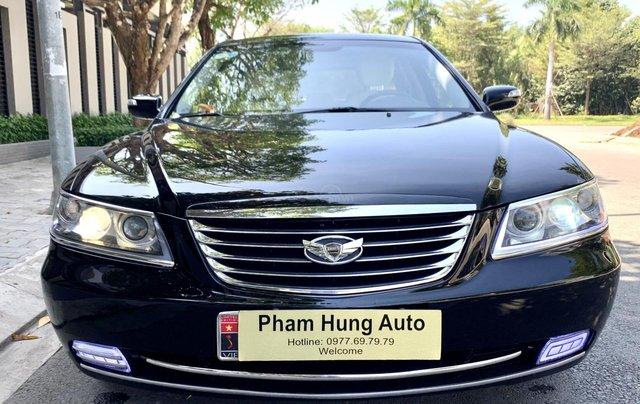 Hyundai Azera tự động nhập khẩu màu đen0