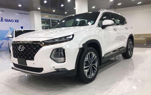 Bán Hyundai Santa Fe đời 2020, màu trắng9