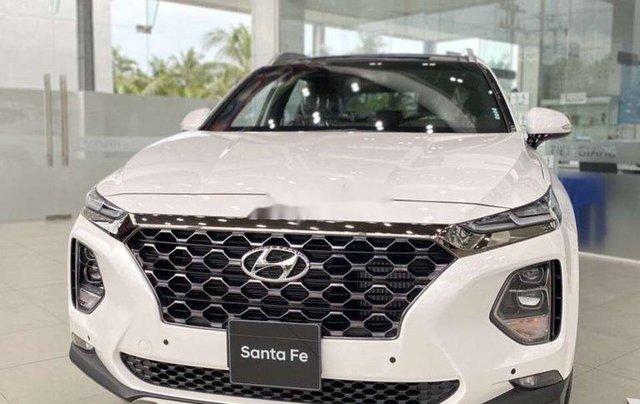 Bán Hyundai Santa Fe đời 2020, màu trắng0