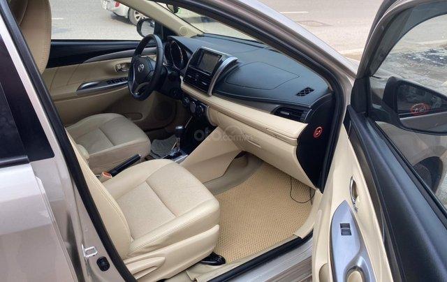 Chính chủ bán Toyota Vios G năm sản xuất 2016, số tự động, màu vàng ghi, xe còn rất mới, giá tốt8