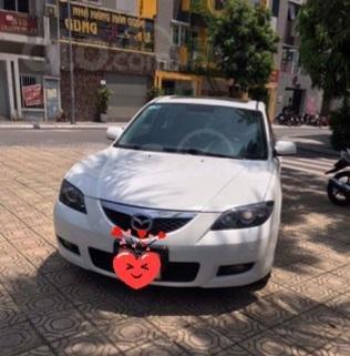 Chính chủ bán xe Mazda 3 AT màu trắng sản xuất 2009 nhập khẩu nguyên chiếc siêu mới0