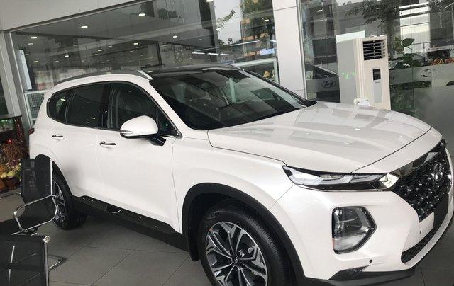 [Hyundai Santa Fe 2.4 xăng cao cấp] giảm 50% thuế trước bạ + khuyến mãi khủng sẵn xe giao ngay0