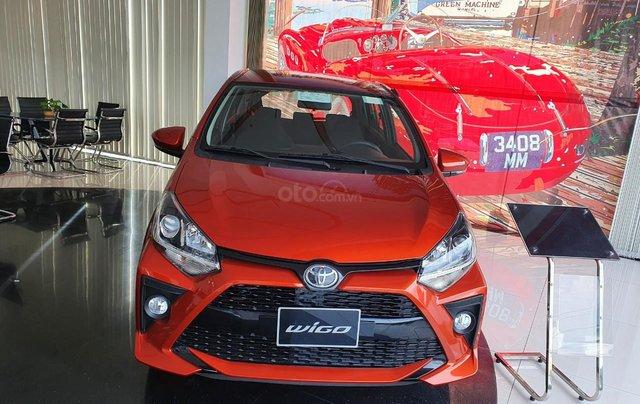 Toyota Wigo 1.2 số tự động - màu cam giao ngay - khuyến mãi tiền mặt - phụ kiện - mua trả góp lãi 0,49%/tháng0