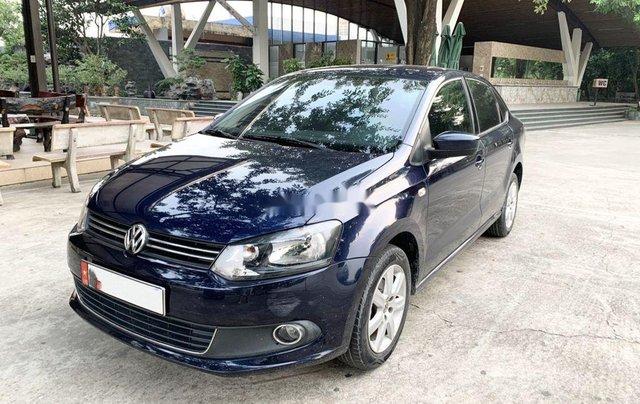 Bán Volkswagen Polo 1.6AT sản xuất 2015, màu xanh lam, nhập khẩu 0