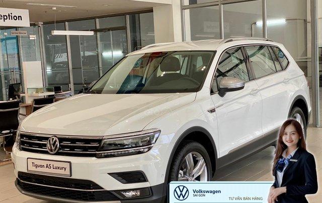 Volkswagen Tiguan Luxury màu trắng 7 chỗ nhập khẩu - Khuyến mãi lên đến hơn 70% trước bạ - Ms Thư0