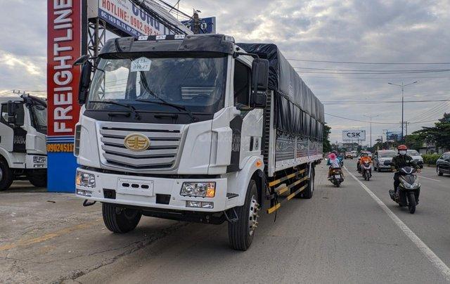 Bán xe tải Faw 8 tấn, thùng dài 9m7, giá rẻ Bình Dương, trả trước từ 300 tirệu nhận xe, lãi suất tốt0