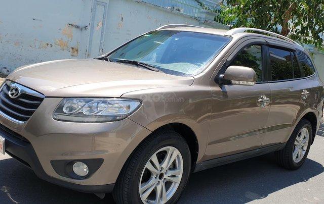 Bán Hyundai Santa Fe máy dầu EVGT 2.0, số tự động, đời cuối 2011, màu nâu tuyệt đẹp, mới 80%0