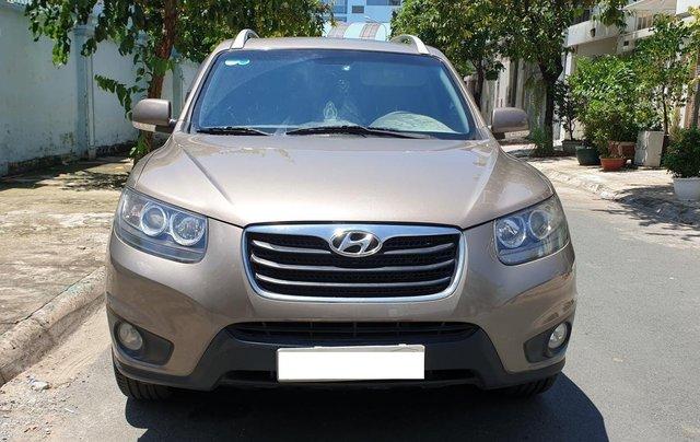 Bán Hyundai Santa Fe máy dầu EVGT 2.0, số tự động, đời cuối 2011, màu nâu tuyệt đẹp, mới 80%1