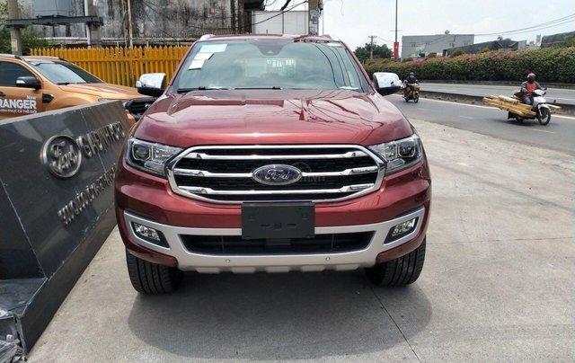 Ford Everest Titanium 4.2 đỏ cá tính0