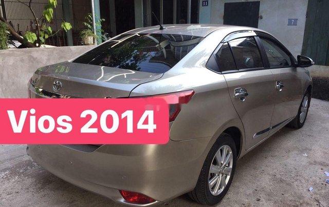 Bán xe Toyota Vios G đời 2014, màu ghi vàng0