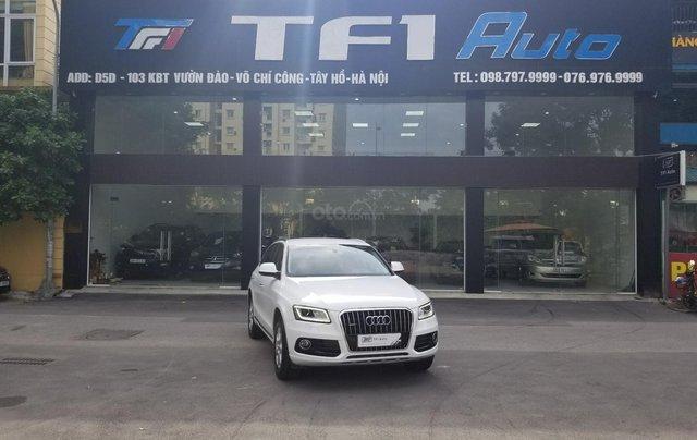 Bán Audi Q5 2.0 TFSI Quattro, sản xuất 2016, đăng ký 2017, màu trắng0